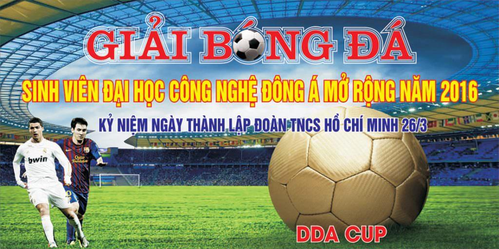 poster Giải bóng đá Đại học Công nghệ Đông Á