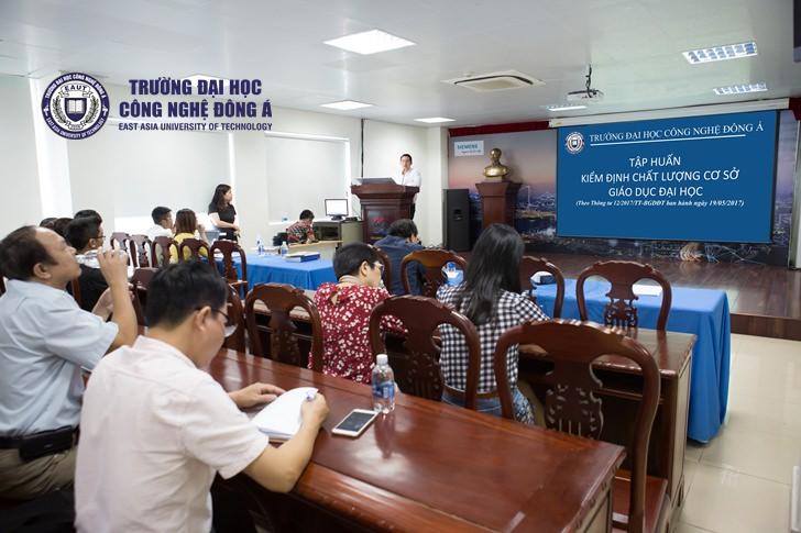 Tập huấn kiểm định chất lượng cơ sở giáo dục – Đại học Công nghệ Đông Á