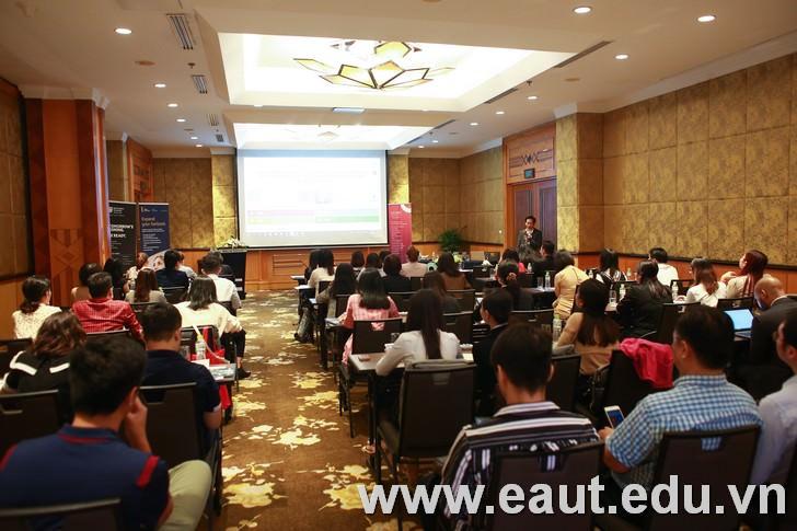 Chương trình hội thảo du học Anh do Tổ chức giáo dục độc lập QA Higher Education tổ chức tại Hà Nội ngày 08/10 vừa qua.