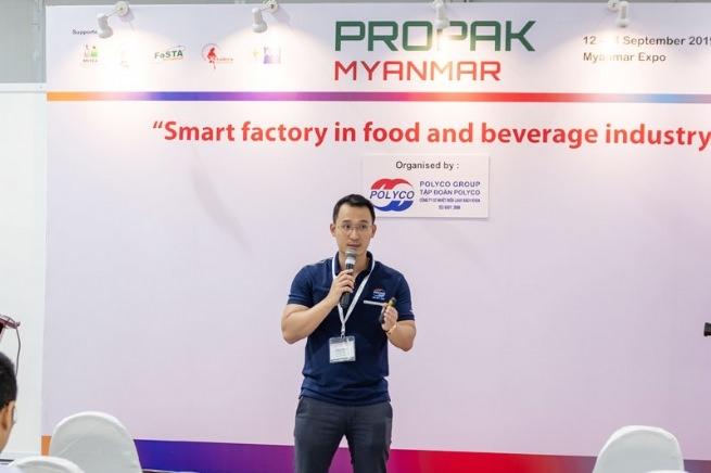 TS. Đinh Văn Thành tại Triển lãm quốc tế về công nghệ xử lý, chế biến và đóng gói bao bì được tổ chức tại Myanmar tháng 9 vừa qua