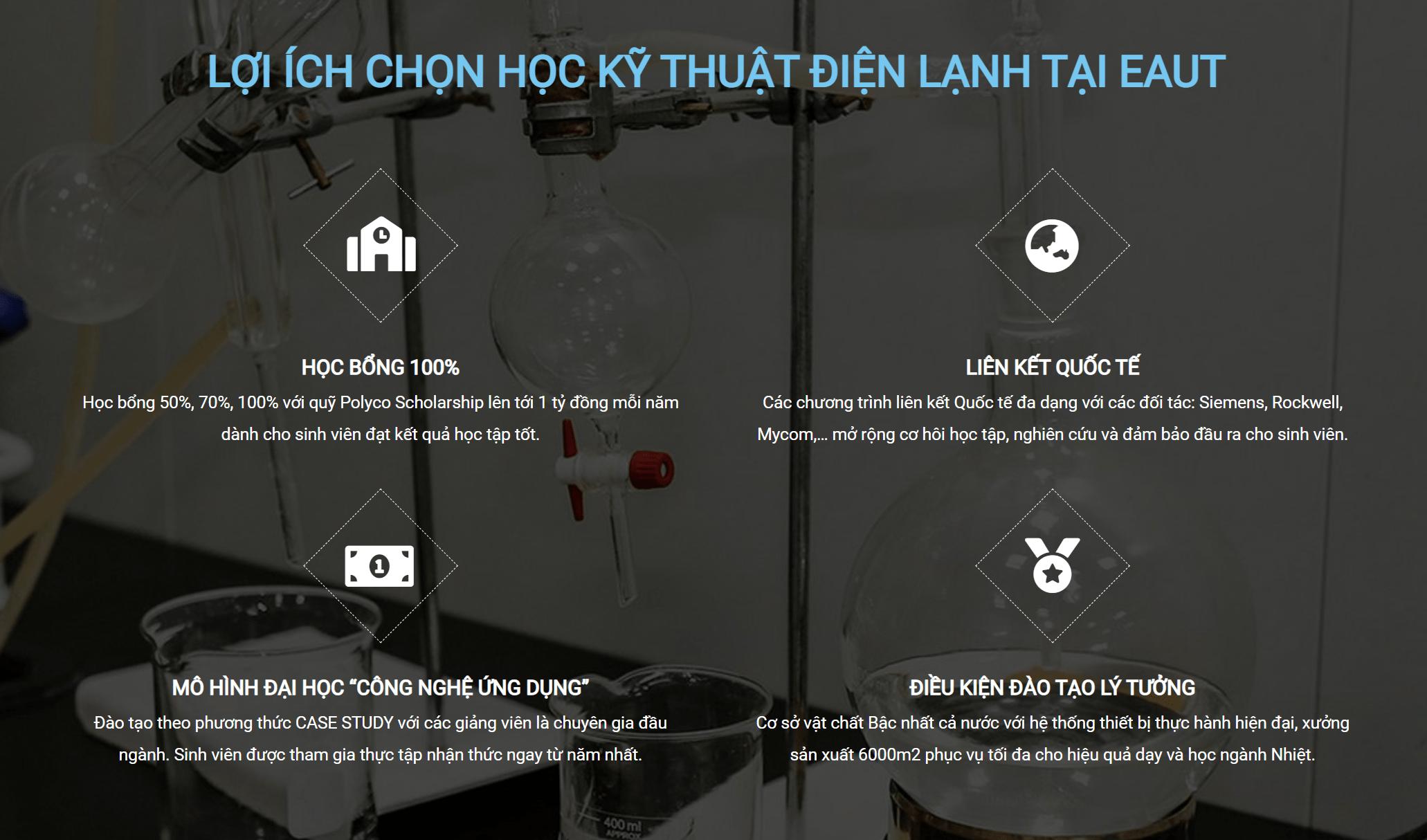 Học Ngành Công nghệ Kỹ thuật nhiệt – Điện lạnh ở Đại học Công nghệ Đông Á